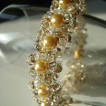 Glas und Gold Armband