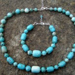 Round and Tube Turquoise Howlite Jewelry