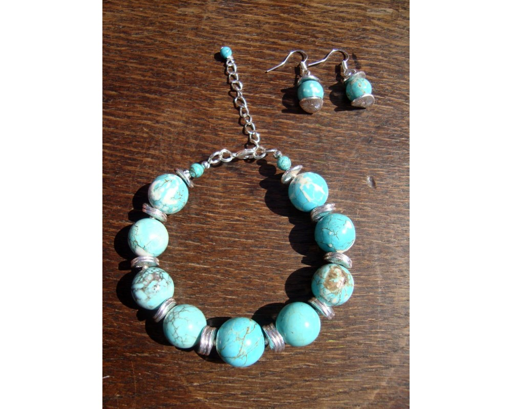 turquoise howlite jewelry iv
