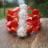Orange Shell Jewelry