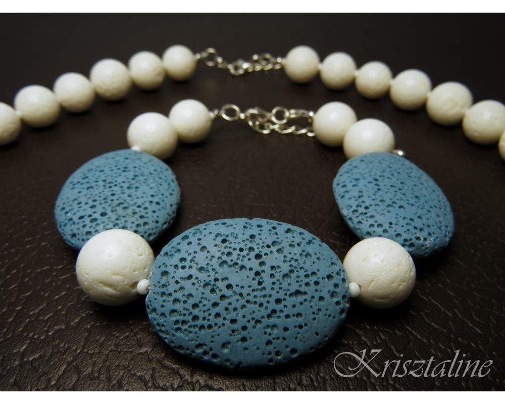 Pastel Blue Lava Stone Jewelry