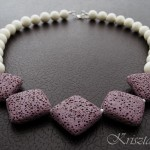 Pastel Purple Lava Stone Necklace