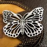Olivenholz und Der Schmetterling Schmuck-Set